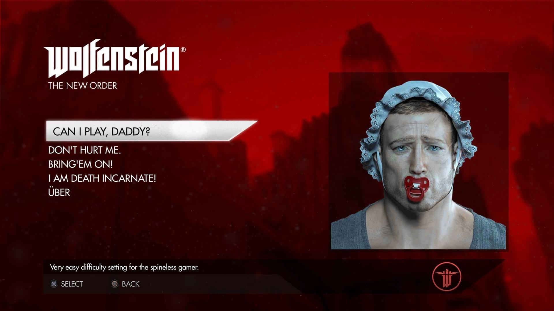juego que se burla de ti Wolfenstein: The New Order