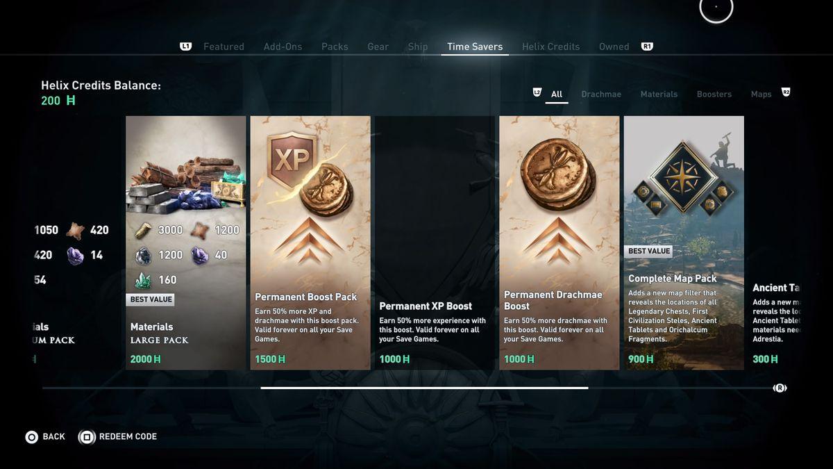 comprar experiencia en Assassin's Creed Odyssey