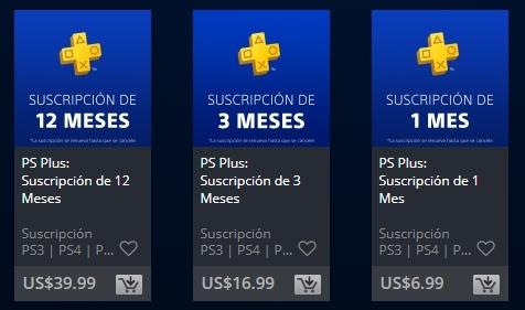 PlayStation plus precio