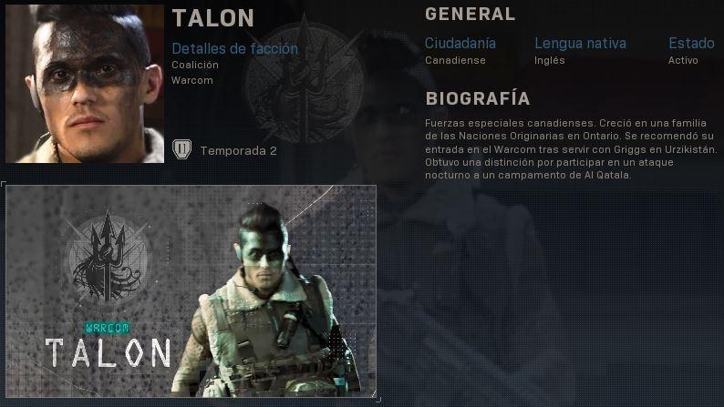 Actualización CoD warzone nuevo operador COD-Talon