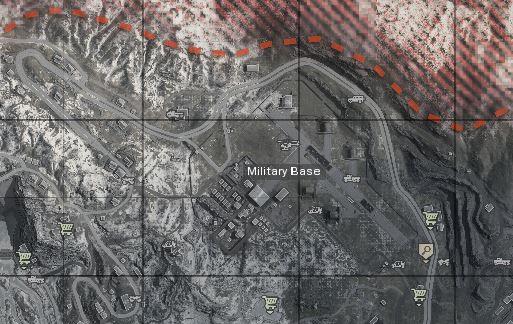 CoD-warzone-map -BaseMilitar- mejores lugares donde aterrizar