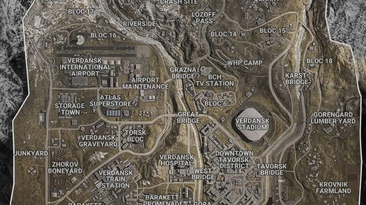 call of duty warzone mapa