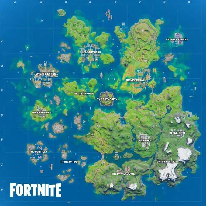 Fortnite-Pase de Batalla Temporada 3-Mapa