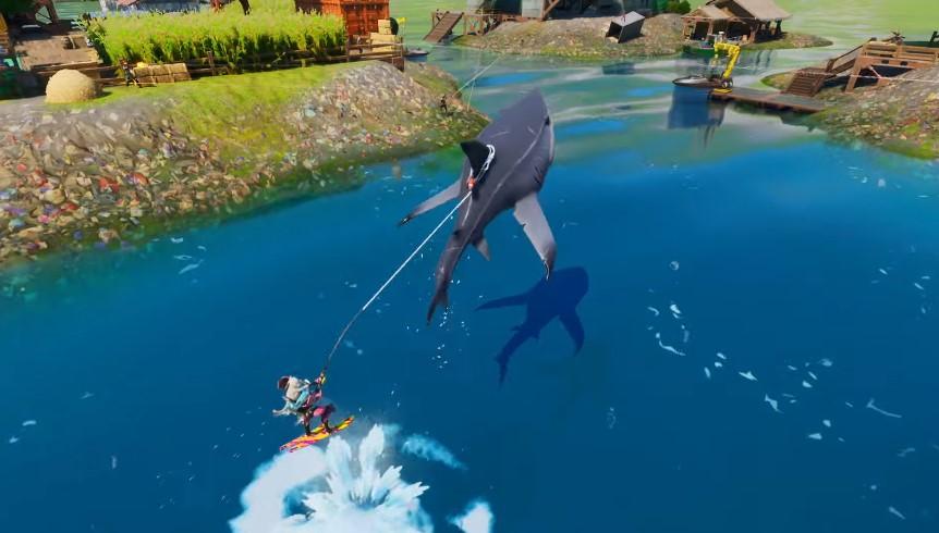 Fortnite-Pase de Batalla Temporada3-Transporte Tiburón