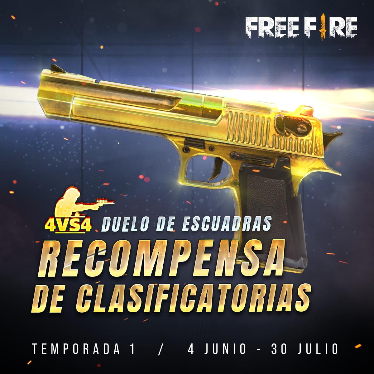 Free fire recompensa de clasificatoria desert eagle