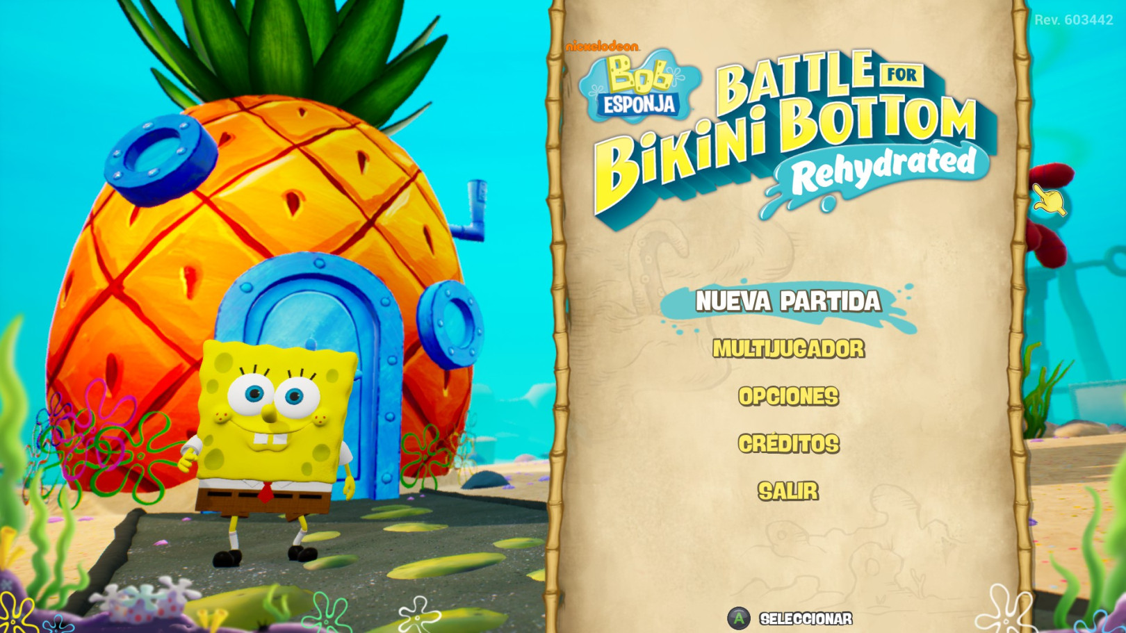 Bob Esponja Battle For bikini bottom Rehydrated historia