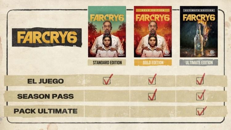 far cry 6 ediciones