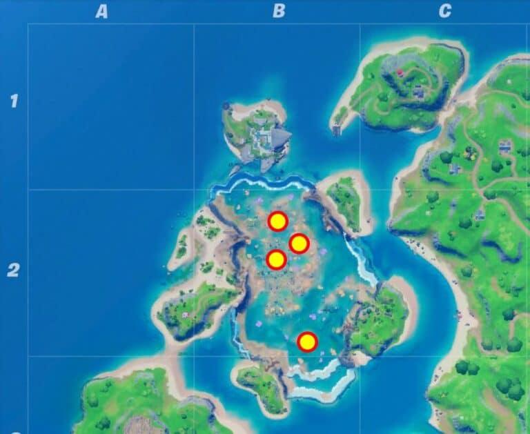 ubicación de anillos flotantes castillo coral