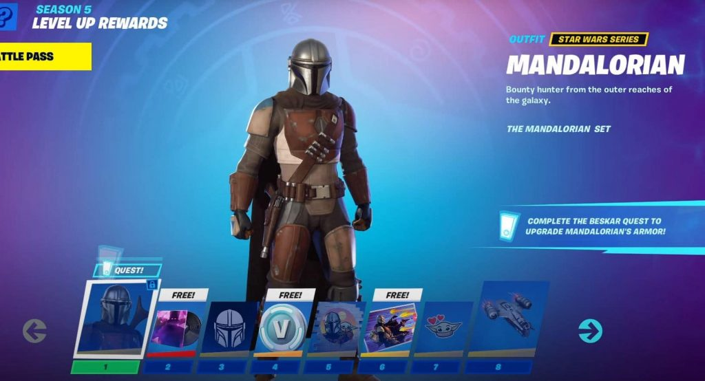 mandalorian fortnite temporada 5