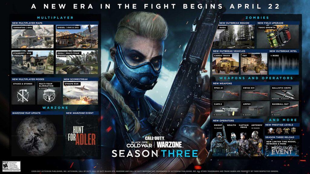 warzone temporada 3 contenido